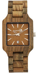 Earth Wood Arapaho Bracelet Watch w/Date - Olive