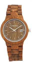 Earth Wood Biscayne Bracelet Watch w/Date - Olive