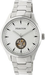 Heritor Automatic Crew Semi-Skeleton Bracelet Watch - Silver-Tone