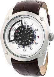 Heritor Automatic Daniels Semi-Skeleton Leather-Band Watch - Silver