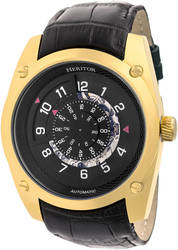 Heritor Automatic Daniels Semi-Skeleton Leather-Band Watch - Gold-Tone/Black