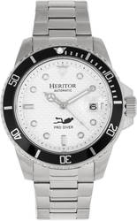 Heritor Automatic Lucius Bracelet Watch w/Date - Silver-Tone/White