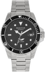 Heritor Automatic Lucius Bracelet Watch w/Date - Silver-Tone/Black