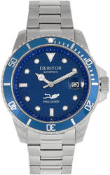 Heritor Automatic Lucius Bracelet Watch w/Date - Silver-Tone/Blue