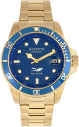 Heritor Automatic Lucius Bracelet Watch w/Date - Gold-Tone/Blue