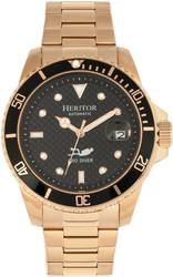 Heritor Automatic Lucius Bracelet Watch w/Date - Rose Gold-Tone/Black