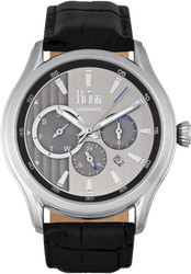 Reign Gustaf Automatic Leather-Band Watch - Black/Silver-Tone