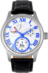 Reign Bhutan Leather-Band Automatic Watch - Silver-Tone