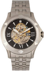 Reign Dantes Automatic Skeleton Dial Bracelet Watch - Silver-Tone/Black