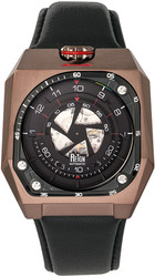 Reign Asher Automatic Sapphire Crystal Leather-Band Watch - Brown/Black
