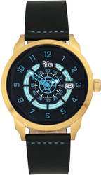 Reign Lafleur Automatic Leather-Band Watch w/Date - Gold-Tone/Teal