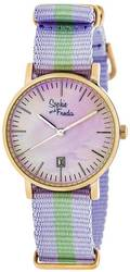 Sophie & Freda Nantucket Nylon-Band Ladies Watch - Rose Gold-Tone/Lavender