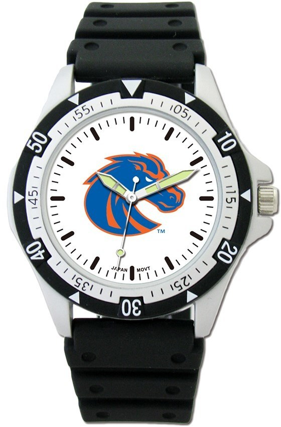 Boise State Option Sport Watch With PU Rubber Strap by LogoArt
