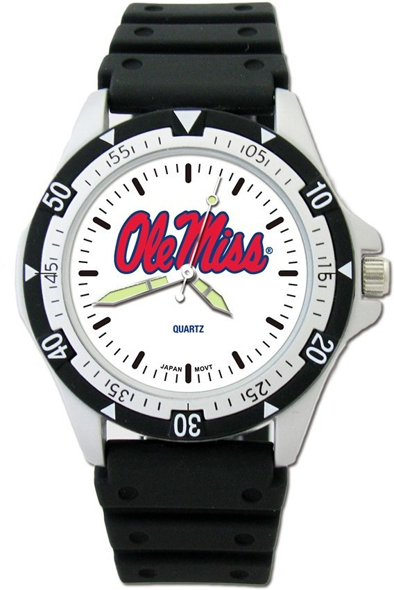 University Of Mississippi Ole Miss Option Sport Watch With PU Strap by LogoArt