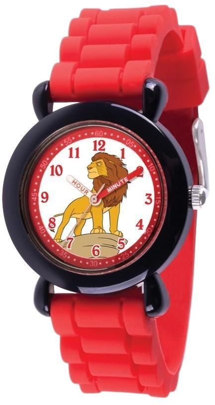 Disney Kids Lion King Simba Time Teacher Red Silicone Band Watch