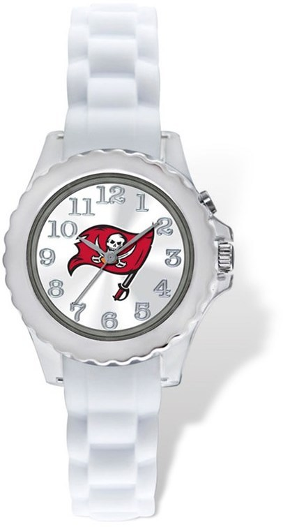 Youth NFL Tampa Bay Buccaneers Flash White Strap Watch