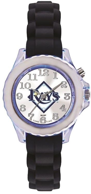 Youth MLB Tampa Bay Rays Flash Black Strap Watch