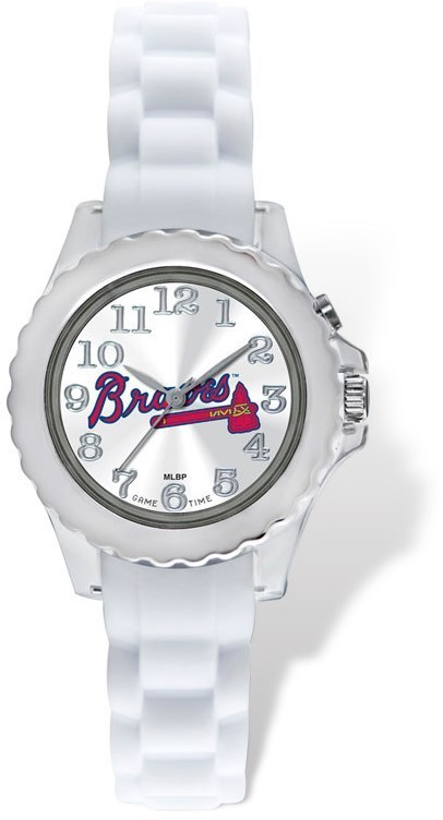 Youth MLB Atlanta Braves Flash White Strap Watch