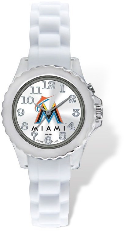 Youth MLB Miami Marlins Flash White Strap Watch