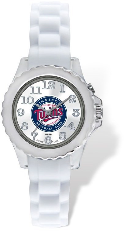 Youth MLB Minnesota Twins Flash White Strap Watch
