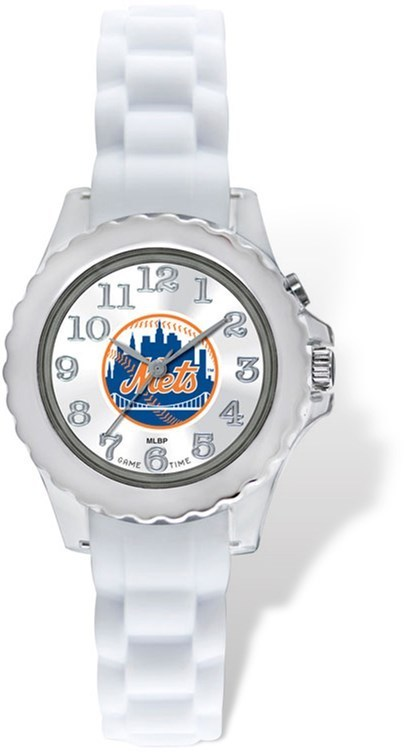Youth MLB New York Mets Flash White Strap Watch