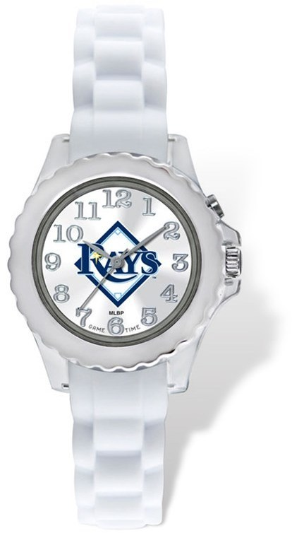 Youth MLB Tampa Bay Rays Flash White Strap Watch