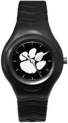 Clemson University Shadow Black Sport Watch White Logo by LogoArt
