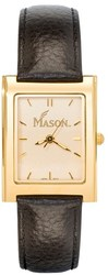George Mason University Mason Ladies Square Dress Leather Watch by LogoArt