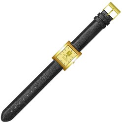 New York University Mens Rectangular Dress Leather Watch by LogoArt