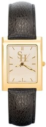 Sam Houston State SH Mens Square Dress Leather Watch by LogoArt