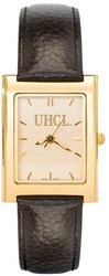 LogoArt University Of Houston Clear Lake UHCL Ladies Square Dress Leather Watch