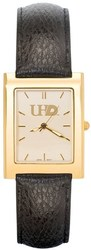 University Of Houston Downtown UHD Mens Square Dress Leather Watch by LogoArt