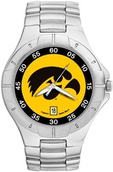 University Of Iowa Hawkeye Pro II Mens Bracelet Watch by LogoArt
