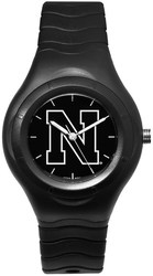 University Of Nebraska Shadow Black Sports Watch With White Logo by LogoArt