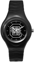 University Of South Carolina Shadow Black Sport Watch With White Logo by LogoArt