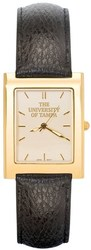 University Of Tampa UT Mens Square Dress Leather Watch by LogoArt