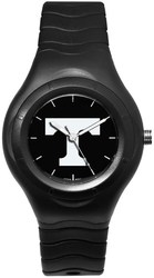 University Of Tennessee Shadow Black Sports Watch With White Logo by LogoArt