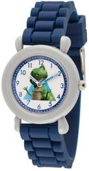 Disney Kids Toy Story Rex Time Teacher Blue Silicone Band Watch