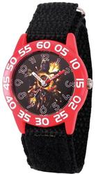 Marvel Kids Avengers Time Teacher Black Nylon Watch