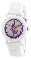 Disney Kids Frozen II Olaf Time Teacher White Silicone Band Watch