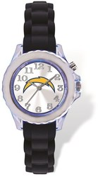 Youth NFL Los Angeles Chargers Flash Black Strap Watch