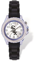 Youth MLB Chicago White Sox Flash Black Strap Watch