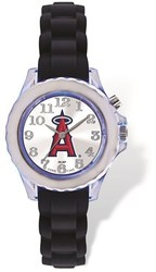 Youth MLB Los Angeles Angels Flash Black Strap Watch