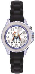 Youth MLB Miami Marlins Flash Black Strap Watch