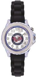 Youth MLB Minnesota Twins Flash Black Strap Watch