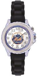 Youth MLB New York Mets Flash Black Strap Watch