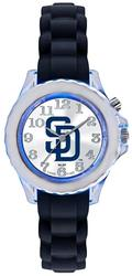 Youth MLB San Diego Padres Flash Black Strap Watch