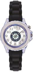 Youth MLB Seattle Mariners Flash Black Strap Watch