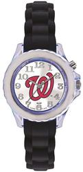 Youth MLB Washington Nationals Flash Black Strap Watch