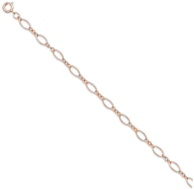 "16"" 14/20 Pink Gold Filled Alternating Size Oval Link Chain Necklace (4mm) - LIMITED STOCK"